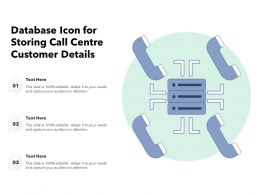 Database Icon For Storing Call Centre Customer Details