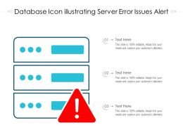 Database Icon Illustrating Server Error Issues Alert