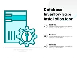 Database Inventory Base Installation Icon