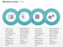 Database Ipad Servers Process Control Gear Ppt Icons Graphics