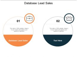 Database Lead Sales Ppt Powerpoint Presentation Show Grid Cpb