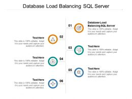 Database Load Balancing SQL Server Ppt Powerpoint Presentation Slides Graphics Cpb