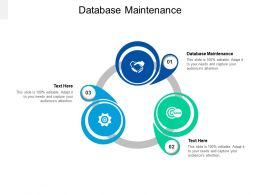 Database Maintenance Ppt Powerpoint Presentation Portfolio Cpb