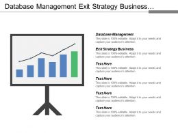 Database Management Exit Strategy Business Technology Trends Strategic Plan Cpb