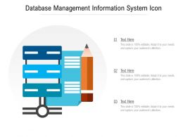 Database Management Information System Icon