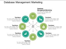 Database Management Marketing Ppt Powerpoint Presentation Gallery Graphics Tutorials Cpb