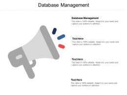 Database Management Ppt Powerpoint Presentation File Samples Cpb