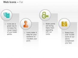 database_management_secured_login_data_folder_ppt_icons_graphics_Slide01