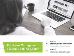 Database Management System Banking Sector Ppt Powerpoint Presentation Layouts Skills Cpb