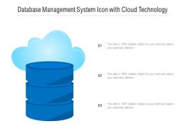 Database Management System Icon With Cloud Technology