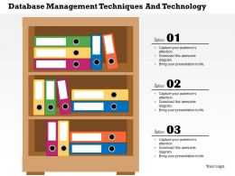Database Management Techniques And Technology Flat Powerpoint Design