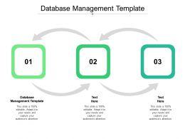 Database Management Template Ppt Powerpoint Presentation Portfolio Slides Cpb