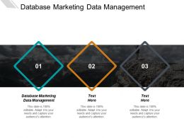 Database Marketing Data Management Ppt Powerpoint Presentation Inspiration Designs Cpb