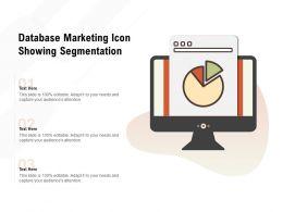 Database Marketing Icon Showing Segmentation