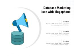 Database Marketing Icon With Megaphone
