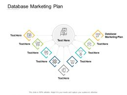 Database Marketing Plan Ppt Powerpoint Presentation Slides Templates Cpb