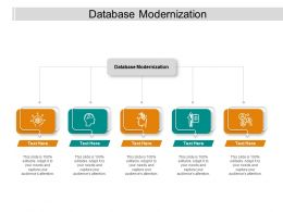 Database Modernization Ppt Powerpoint Presentation Infographic Template Graphics Template Cpb
