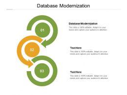 Database Modernization Ppt Powerpoint Presentation Samples Cpb
