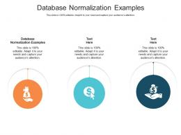 Database Normalization Examples Ppt Powerpoint Presentation Introduction Cpb