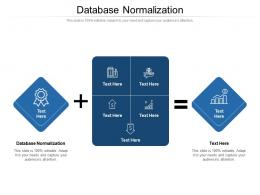 Database Normalization Ppt Powerpoint Presentation Pictures Ideas Cpb