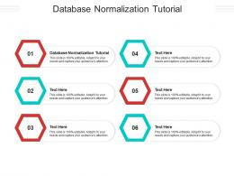 Database Normalization Tutorial Ppt Powerpoint Presentation Summary Structure Cpb
