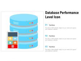 Database Performance Level Icon