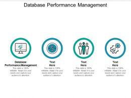 Database Performance Management Ppt Powerpoint Presentation Layouts Portrait Cpb