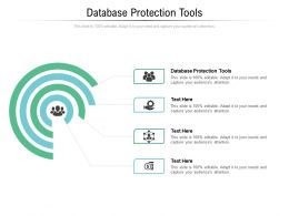 Database Protection Tools Ppt Powerpoint Presentation Icon Graphics Cpb