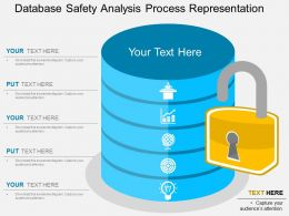 database_safety_analysis_process_representation_flat_powerpoint_design_Slide01