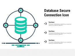 Database Secure Connection Icon
