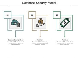 Database Security Model Ppt Powerpoint Presentation Professional Gridlines Cpb