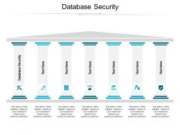 Database Security Ppt Powerpoint Presentation Infographics Portrait Cpb