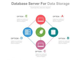 Database Server For Data Storage And Management Flat Powerpoint Design