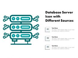 Database Server Icon With Different Sources