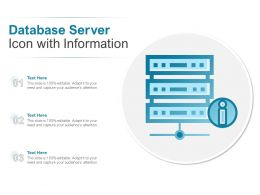 Database Server Icon With Information