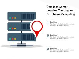 Database Server Location Tracking For Distributed Computing