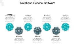 Database Service Software Ppt Powerpoint Presentation Infographics Slide Download Cpb