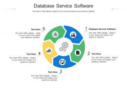 Database Service Software Ppt Powerpoint Presentation Portfolio Master Slide Cpb