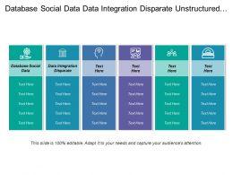 Database Social Data Data Integration Disparate Unstructured Data