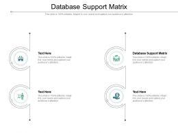 Database Support Matrix Ppt Powerpoint Presentation Professional Portrait Cpb