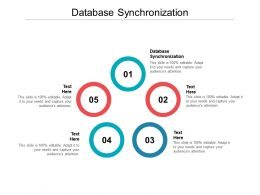 Database Synchronization Ppt Powerpoint Presentation File Infographics Cpb