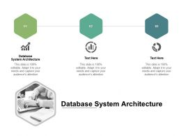 Database System Architecture Ppt Powerpoint Presentation Model Templates Cpb