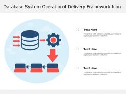 Database System Operational Delivery Framework Icon