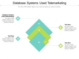 Database Systems Used Telemarketing Ppt Powerpoint Background Image Cpb