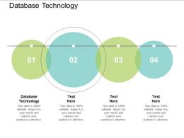 Database Technology Ppt Powerpoint Presentation Inspiration Infographics Cpb