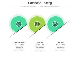 Database Testing Ppt Powerpoint Presentation Show Cpb