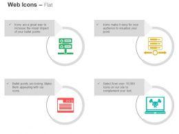 database_three_servers_data_folder_virus_protection_ppt_icons_graphics_Slide01