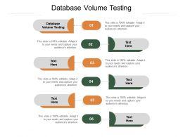 Database Volume Testing Ppt Powerpoint Presentation Slides Cpb