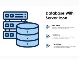 Database With Server Icon