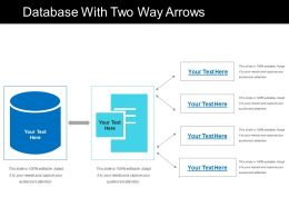 Database With Two Way Arrows